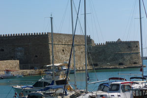 The Venetian fortress of Heraklion crete