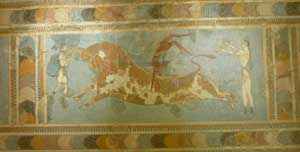 fresco from the Archaeological Museum of Heraklion