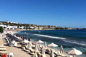 the beach of Agia Paraskevi hersonissos