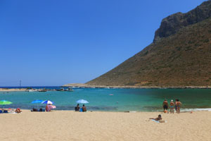 beach of stavros in Crete
